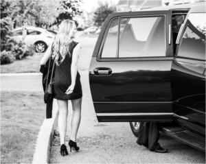 senor girl graduation limo