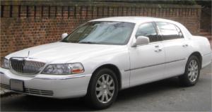 white town car